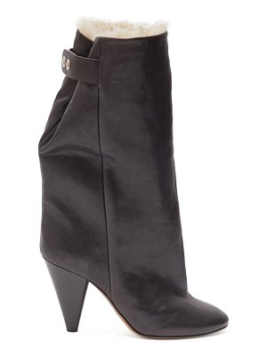 Isabel Marant lakfee shearling lined leather boots