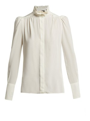 Isabel Marant Lamia Silk Ruffled Blouse
