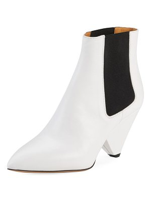 Isabel Marant Lashby Gored Calfskin Booties