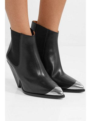 Isabel Marant lemsey metal-trimmed leather ankle boots