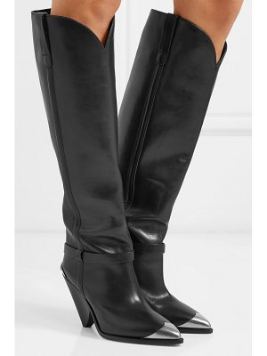 Isabel Marant lenskee metal-trimmed leather knee boots