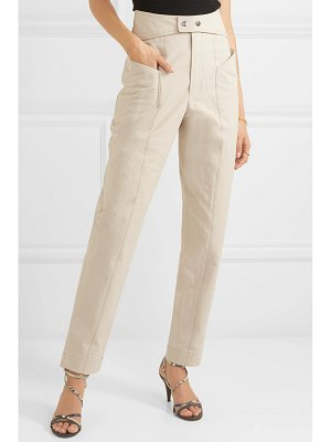Isabel Marant lixy cotton-twill tapered pants