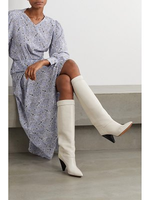 Isabel Marant loens leather knee boots - off-white