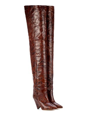Isabel Marant Lostynn embossed leather boots