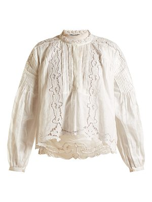 Isabel Marant Maly embroidered cotton top