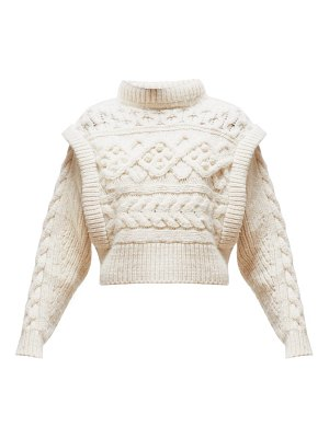 Isabel Marant milane cable knit merino wool sweater