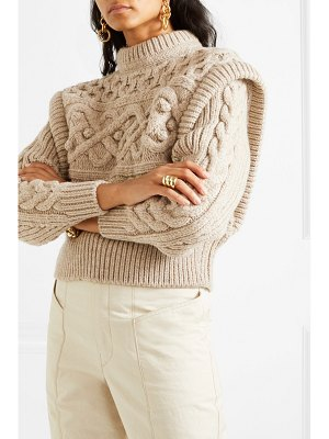 Isabel Marant milane cropped cable-knit merino wool sweater
