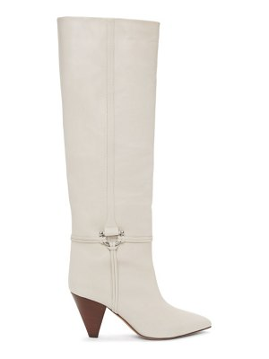 Isabel Marant off-white leather learl tall boots