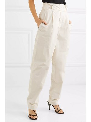 Isabel Marant pierson pleated cotton tapered pants