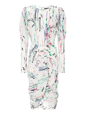 Isabel Marant printed stretch-silk midi dress