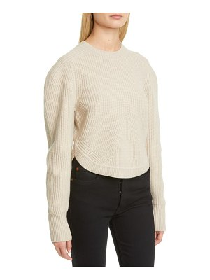 Isabel Marant rib wool & cashmere balloon sleeve sweater
