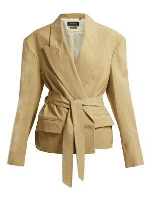 Isabel Marant Riller Peak Lapel Linen Blend Jacket