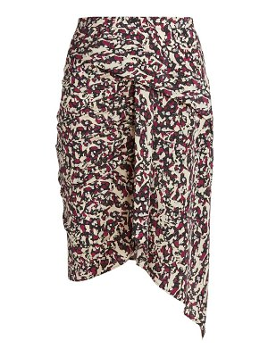Isabel Marant roly draped printed stretch-silk skirt