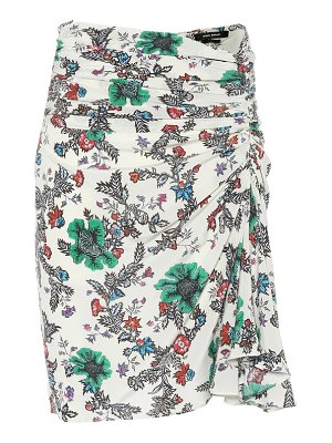 Isabel Marant cereny floral stretch-silk skirt