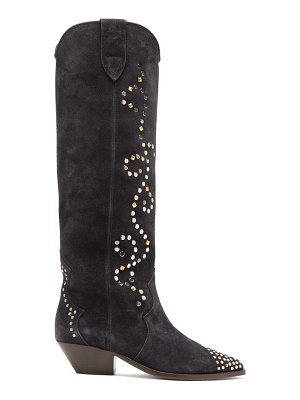 Isabel Marant studded suede knee-high boots