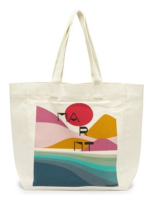 Isabel Marant sunset logo-print cotton tote bag