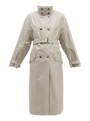 Isabel Marant tatiana press studded long cotton trench coat