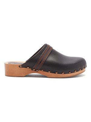 Isabel Marant thalie leather and wood clog mules