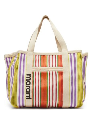 Isabel Marant warden large striped-canvas tote bag