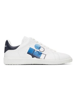 Isabel Marant white & blue billyo sneakers