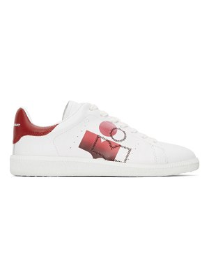 Isabel Marant white & red billyo sneakers