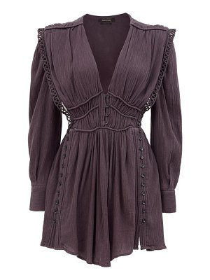 Isabel Marant yaxo v-neck cotton-voile mini dress