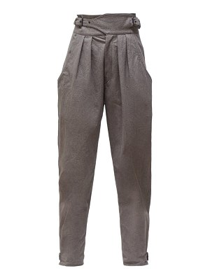 Isabel Marant yurnea pleated cotton tapered trousers