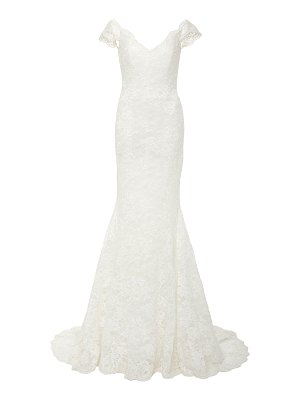 Isabelle Armstrong delilah off-the-shoulder lace mermaid gown