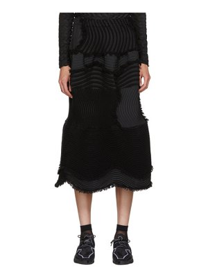 Issey Miyake Stag Knit Pleats Skirt