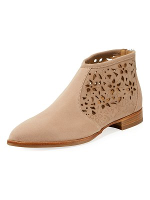 ITALEAU Perla Waterproof Laser-Cut Ankle Booties