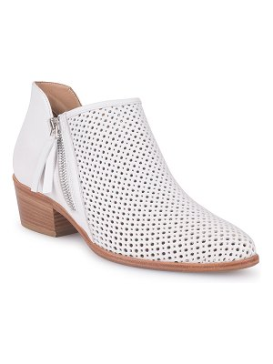 ITALEAU Saria Perforated Leather Ankle Boots