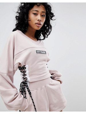 IVY PARK Sweatshirt With Lace Up Sides