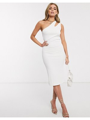 Ivyrevel cut out one shoulder dress in white