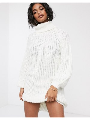 Ivyrevel oversized knitted dress in off white