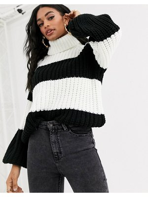 Ivyrevel oversized knitted sweater in black and white-multi