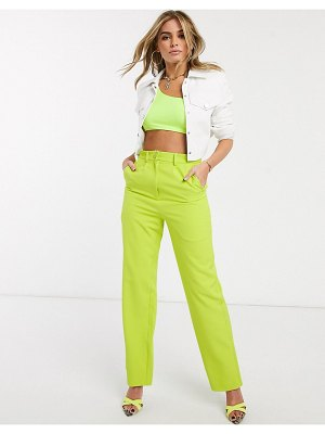 Ivyrevel tailored pants in lime-green