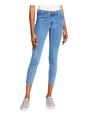 J Brand 835 Mid-Rise Crop Skinny Jeans with Frayed Hem