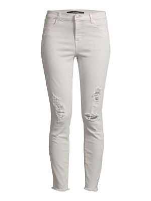 J Brand alana high-rise crop skinny distressed jeans