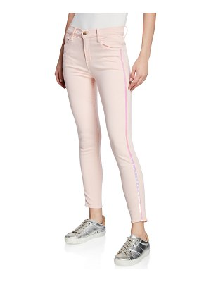 J Brand Alana High-Rise Cropped Super Skinny Jeans w/ Ladder Lace