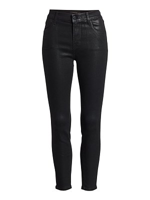 J Brand alana high-rise coated crop skinny jeans