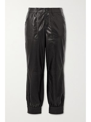 J Brand arkin cropped leather track pants