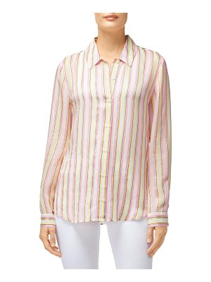 J Brand Elena Striped Long-Sleeve Button-Back Shirt
