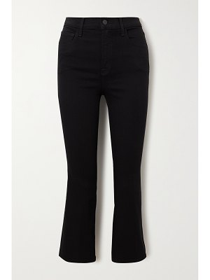 J Brand franky cropped high-rise bootcut jeans