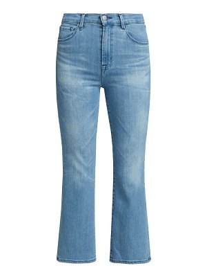 J Brand franky high-rise cropped bootcut jeans