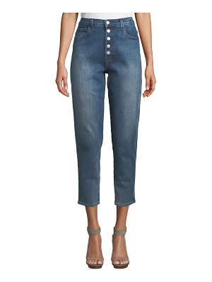 J Brand Heather High-Rise Button-Fly Cropped Jeans