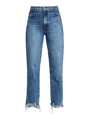 J Brand jules high-rise straight-leg cropped jeans