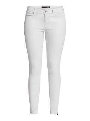 J Brand l8001 mid-rise skinny leather jeans