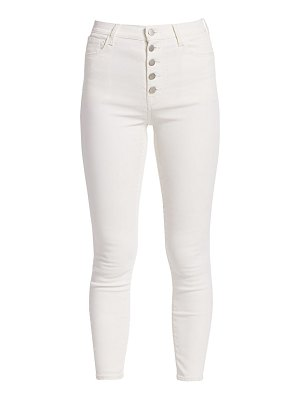 J Brand lillie high-rise coated crop skinny jeans