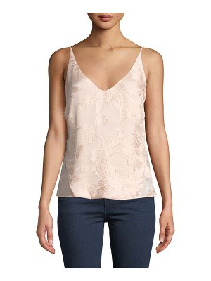 J Brand Lucy Floral Jacquard V-Neck Camisole