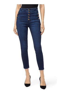 J Brand Natasha High Crop Skinny Jeans with Buttons